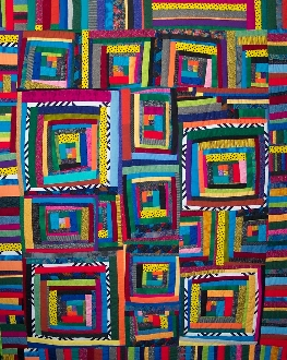 SFQP511 Log Cabin String Quilt©