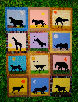African Safari Animals Quilt Pattern SFQP403