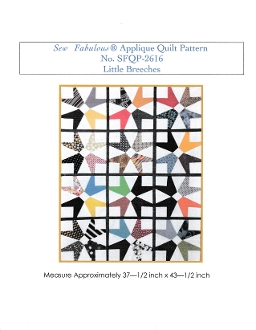2616- Sew Fabulous® Applique Quilt Pattern Little Breeches