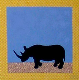 SFAPJ-104 African Safari Rhino Fusible Applique Pattern